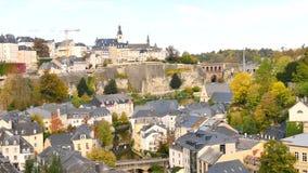 卢森堡的都市风景  股票视频