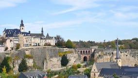 卢森堡的都市风景  股票录像