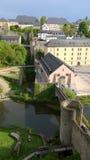 卢森堡老市围住照片 图库摄影