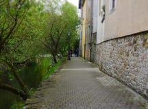卢森堡老车道照片 库存照片