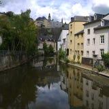 卢森堡老镇照片 免版税库存图片