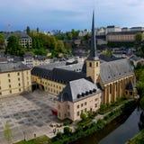 卢森堡老镇照片 免版税图库摄影