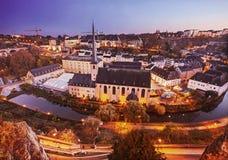 卢森堡老镇 库存图片