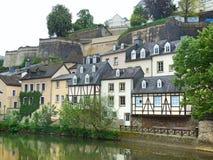 卢森堡老镇 免版税库存图片