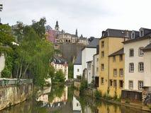 卢森堡老镇 免版税图库摄影