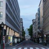 卢森堡街,布鲁塞尔,比利时 免版税库存照片