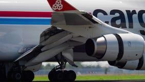 卢森堡货运意大利波音747着陆 影视素材