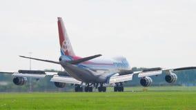 卢森堡货运意大利波音747着陆 股票录像