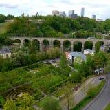 卢森堡高架桥照片 库存图片