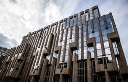 卢森堡- 2015年10月30日:欧洲大厦现代建筑学在卢森堡 免版税图库摄影