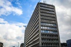 卢森堡- 2015年10月30日:欧洲大厦现代建筑学在卢森堡 免版税库存照片