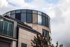 卢森堡- 2015年10月30日:欧洲大厦现代建筑学在卢森堡 免版税库存图片