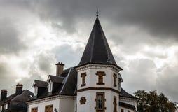卢森堡- 2015年10月30日:葡萄酒欧洲大厦&地标传统建筑学在卢森堡 免版税库存图片