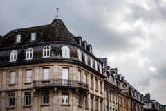卢森堡- 2015年10月30日:葡萄酒欧洲大厦&地标传统建筑学在卢森堡 库存图片