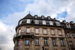 卢森堡- 2015年10月30日:葡萄酒欧洲大厦&地标传统建筑学在卢森堡 免版税图库摄影
