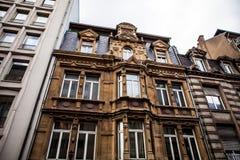 卢森堡- 2015年10月30日:葡萄酒欧洲大厦&地标传统建筑学在卢森堡 免版税库存照片