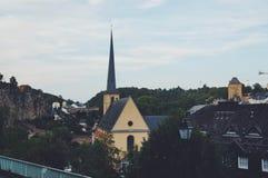 卢森堡 老城镇 免版税库存图片