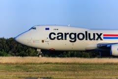 卢森堡货运波音747 库存照片