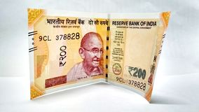 200卢比笔记新的印地安货币  库存图片