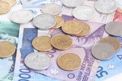 卢比-印度尼西亚金钱 免版税库存照片