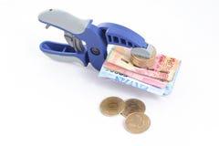 卢比-紧缩信用政策概念 免版税图库摄影