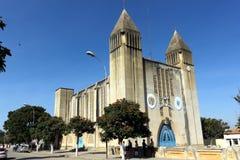 卢班戈,安哥拉大教堂  免版税图库摄影