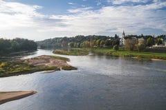 卢瓦尔河和游览概要 库存照片