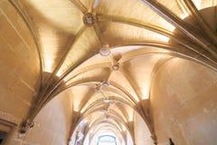 卢瓦尔河流域城堡内部  免版税库存图片