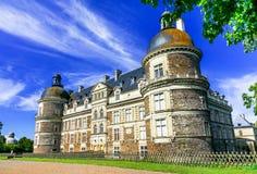 卢瓦尔谷-美丽的典雅的Chateau de S惊人的城堡  库存照片