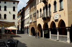 贝卢诺,意大利:piazza del Mercato 免版税库存照片