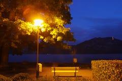 卢赛恩湖边夜 库存图片