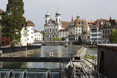 卢赛恩都市风景在瑞士 图库摄影