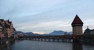 卢赛恩,卢塞恩州,中央瑞士,欧洲的首都 免版税图库摄影