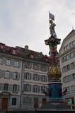 卢赛恩,卢塞恩州,中央瑞士,欧洲的首都 免版税库存照片