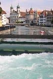 卢赛恩,瑞士的市中心 免版税库存图片