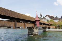 卢赛恩, Spreuer桥梁 库存图片