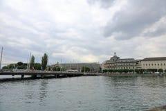 卢赛恩-一个美丽的城市在瑞士 免版税图库摄影