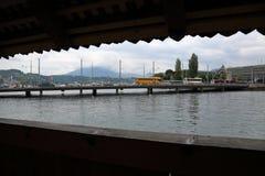 卢赛恩-一个美丽的城市在瑞士 库存图片