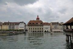卢赛恩-一个美丽的城市在瑞士 图库摄影