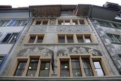 卢赛恩-一个美丽的城市在瑞士 免版税库存照片