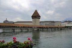 卢赛恩-一个美丽的城市在瑞士 库存照片