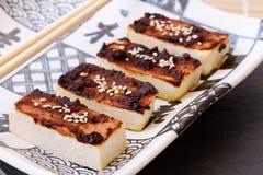卤汁味噌豆腐 图库摄影