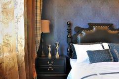 卧室内景照明视窗 免版税库存图片