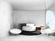 卧室内部空间 免版税库存照片