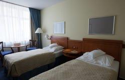 卧室内部简单 免版税库存图片