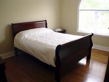 卧室内部视图 免版税库存照片