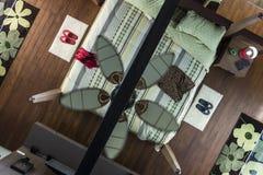 卧室内部顶视图 免版税库存照片