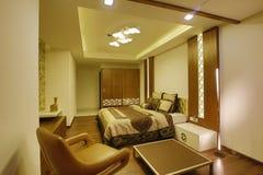卧室内部,科泽科德,印度 免版税库存照片
