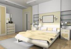 卧室内部 免版税图库摄影