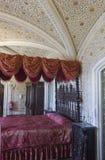 卧室在辛特拉贝纳宫殿 免版税库存照片